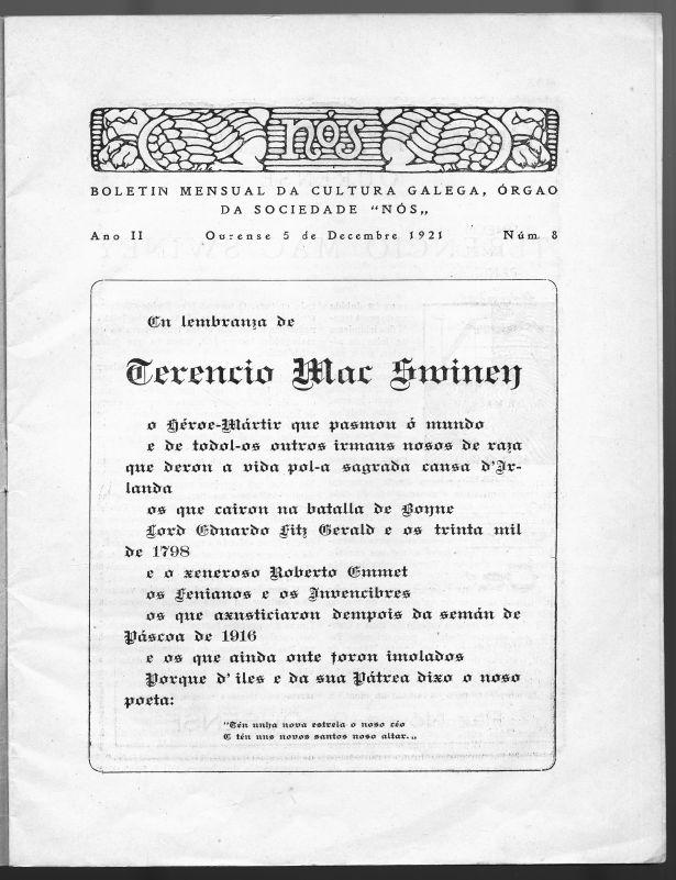 Número da Revista Nós dedicado a Terence MacSwiney (1921)